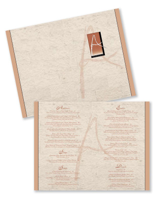 Menu design, menus, restaurant